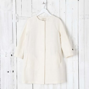 Fleur Cropped Sleeved  Coat