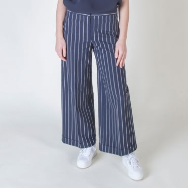 Girante Wide Leg Trousers in Midnight Blue
