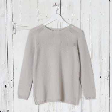 Nastie Pure Cashmere Sweater in Ivory