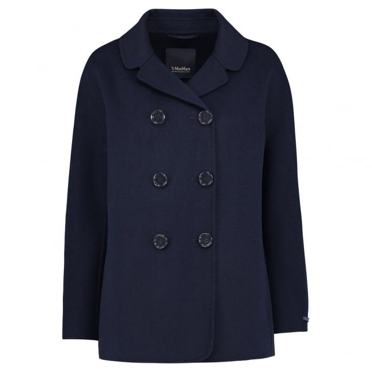 S MAX MARA Ocarina Jacket in Midnight Blue