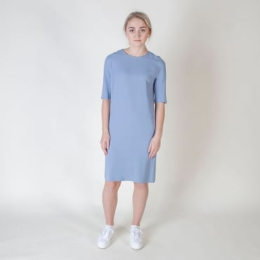 Ostenda Classic Shift Dress in Sky Blue