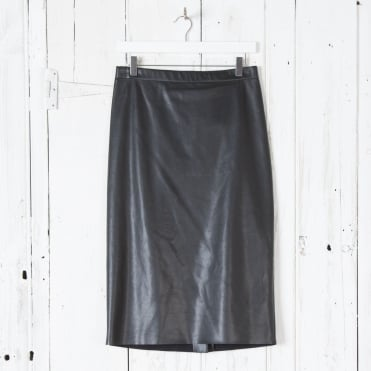 Vada Jersey Skirt in Black