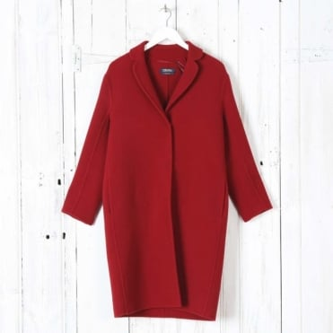 Viglio Brushed - Wool Coat in Red