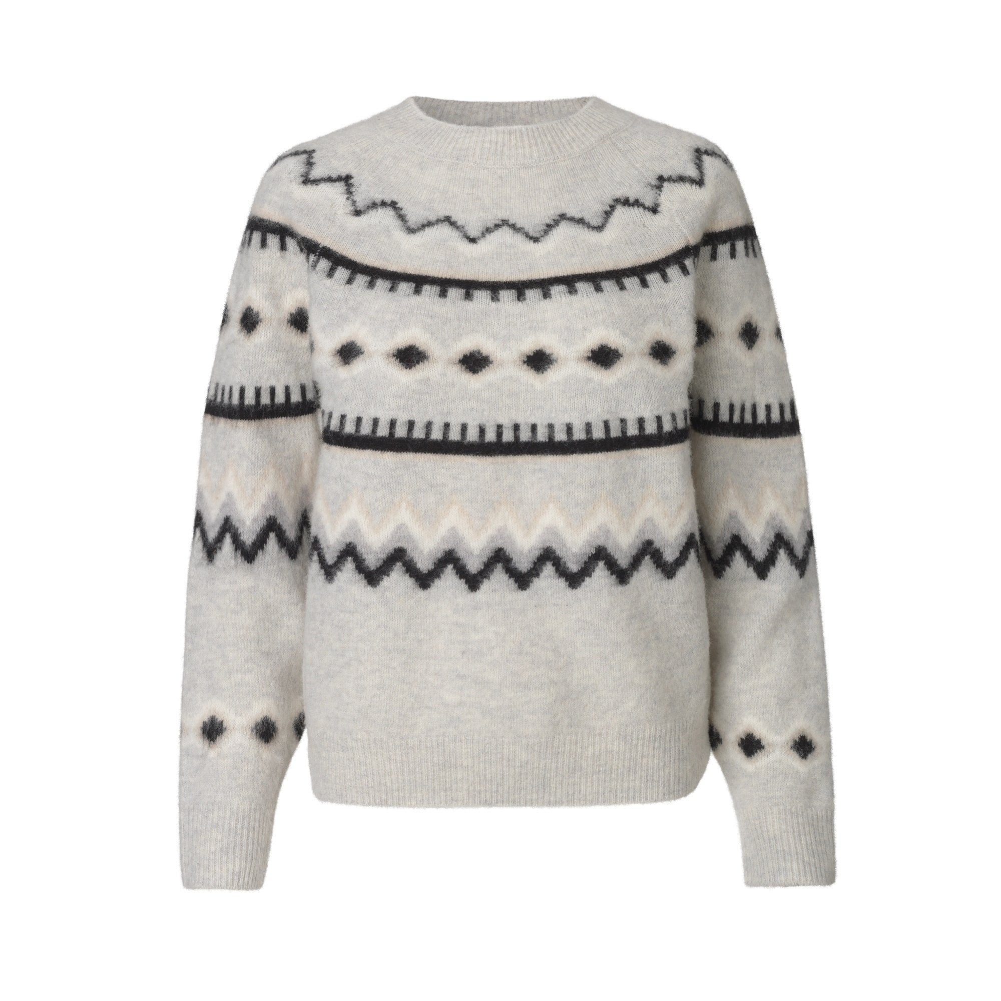Fabrizia Knit in Light Grey Melange