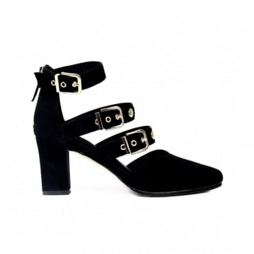 Adore Black Suede Heels