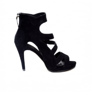 Dare Black Stiletto in Suede
