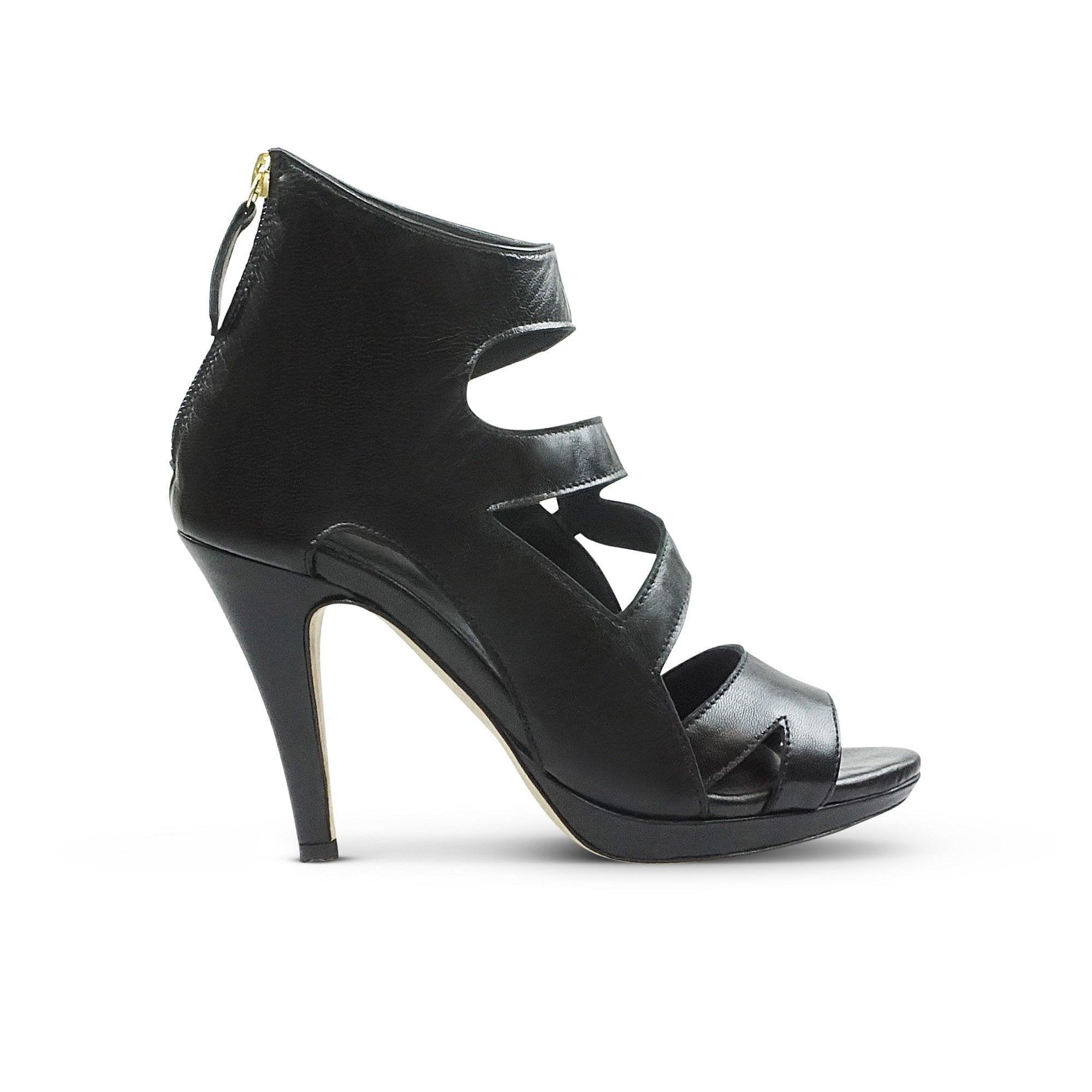 3bb4d4ee06d5 SARGOSSA Dare Nappa Leather Strappy Heel in Black