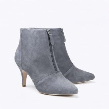 Zipit Suede Heeled Shoe