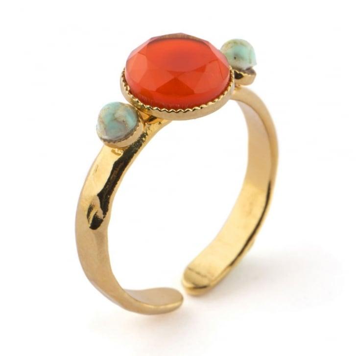 SATELLITE 3 Stones Sofia Ring in Gold
