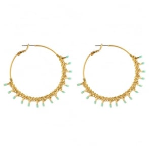 Big Hoop Kuzco Post Earrings in Gold