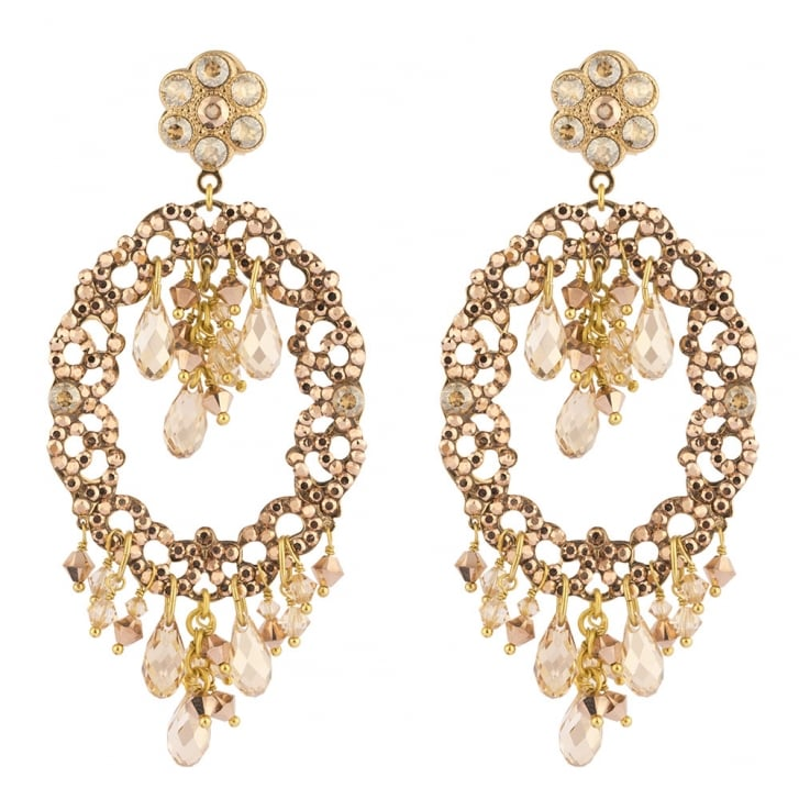 SATELLITE Chiara Light Pink and Gold Post Earrings