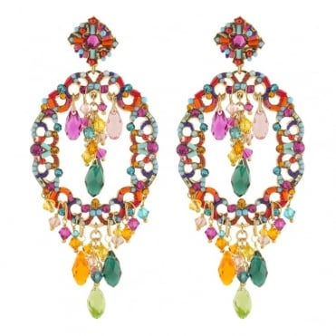 Chiara Multi Colour Post Earrings