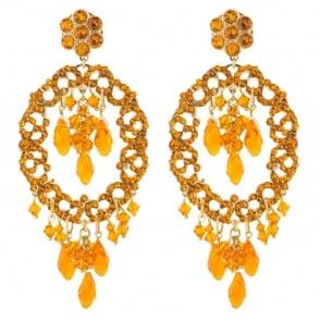 Chiara Orange Post Earrings
