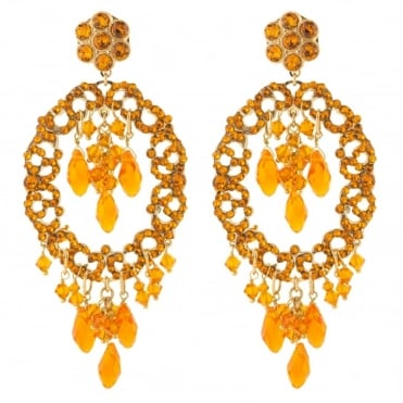 Chiara Orange Post Earrings