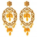 SATELLITE Chiara Orange Post Earrings