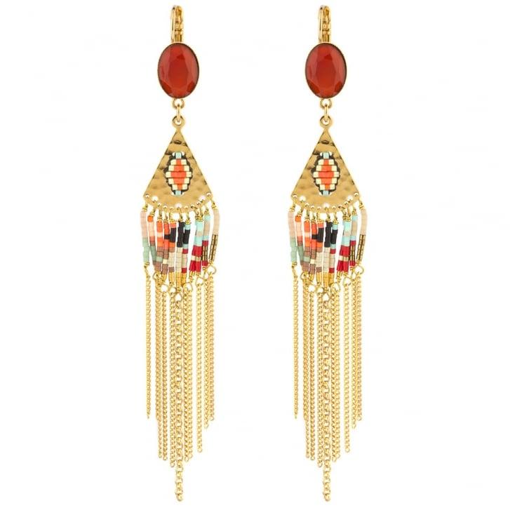 SATELLITE Sofia Drop Earrings in Gold