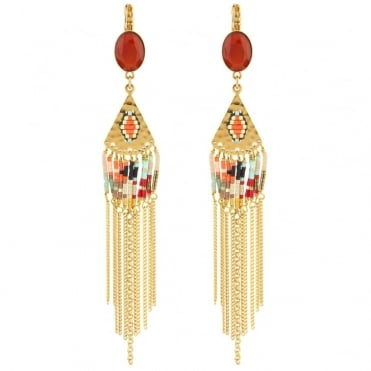 Sofia Drop Earrings in Gold