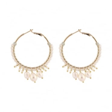 Stromboli Post Earrings in Gold