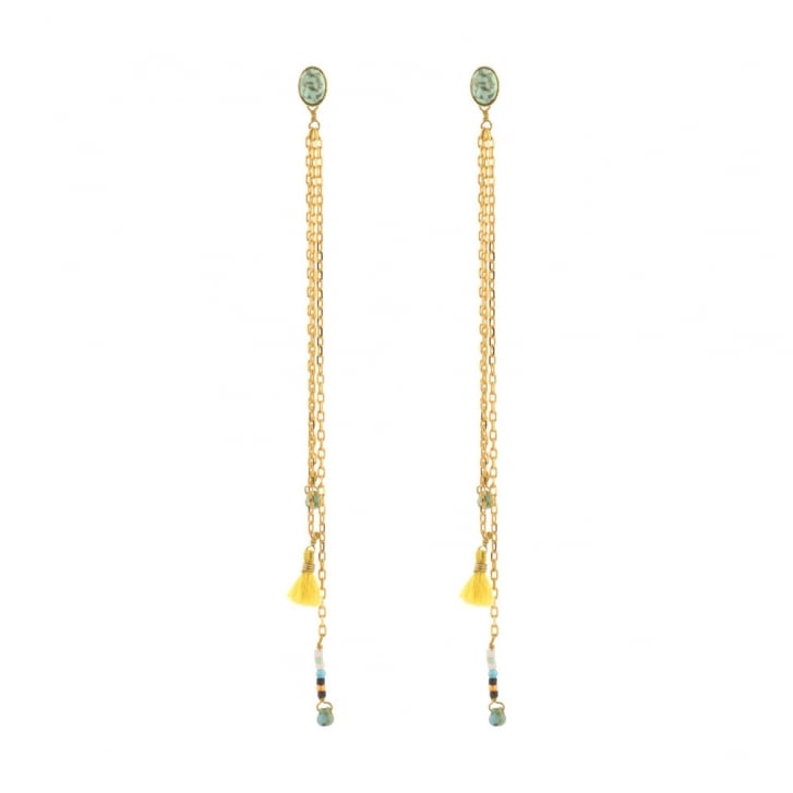 SATELLITE Yellow and Green Kuzco Earrings in Gold