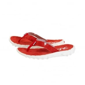 Sava Red Canvas Flip Flop