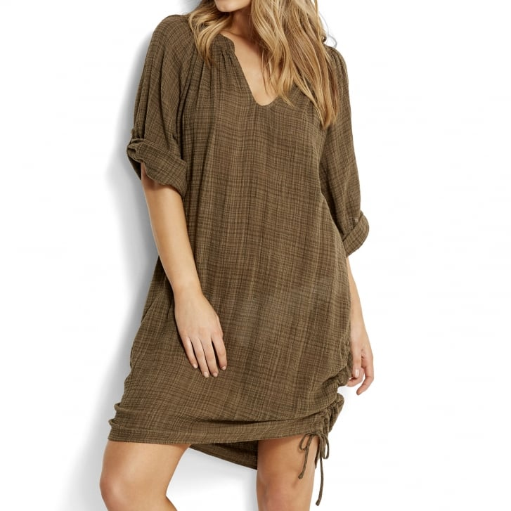 SEAFOLLY Bali Hai Beach Shirt in Dark Olive