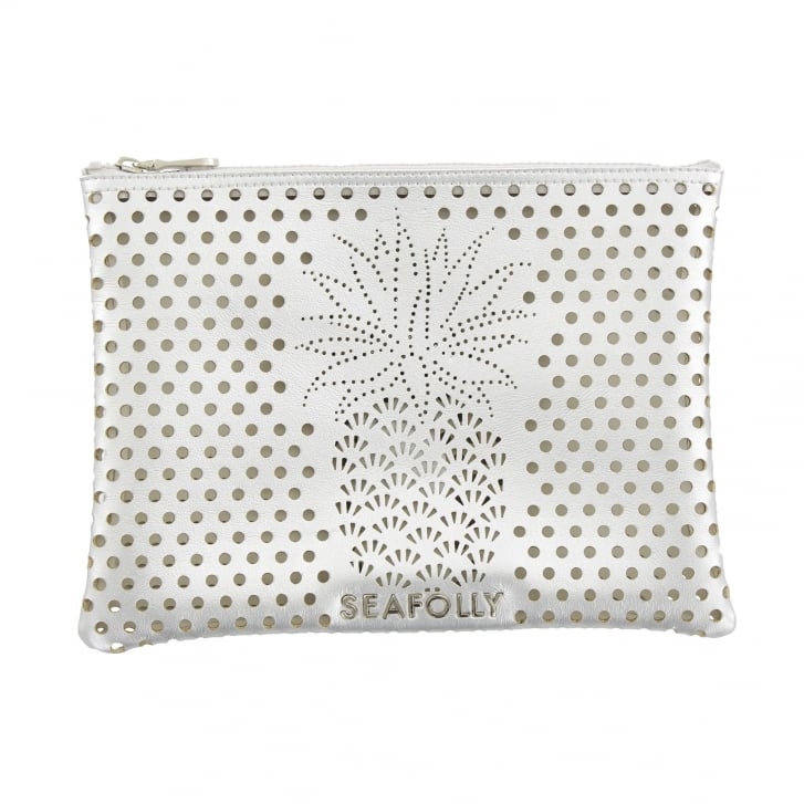SEAFOLLY Pineapple Clutch in Silver
