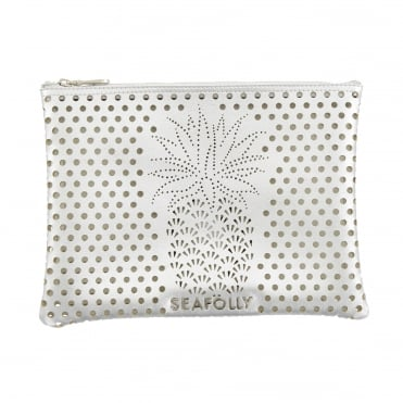 Pineapple Clutch in Silver