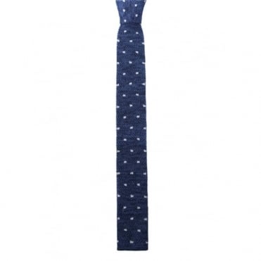 Seasonal Spotted Knitted Tie