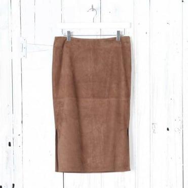 Agency Suede Midi Skirt