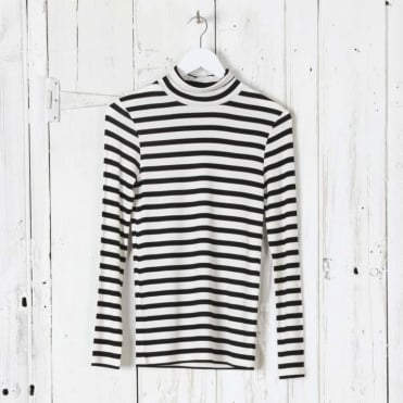Laura Stripey Roll Neck Top