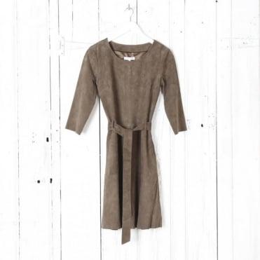 Rut Suede Flared Skirt Dress