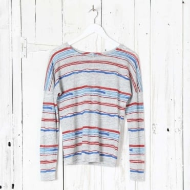 Seiko71 Striped Linen T-Shirt