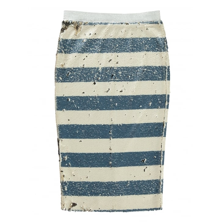 ESSENTIEL Sequin Stripe Skirt
