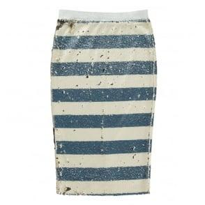 Sequin Stripe Skirt