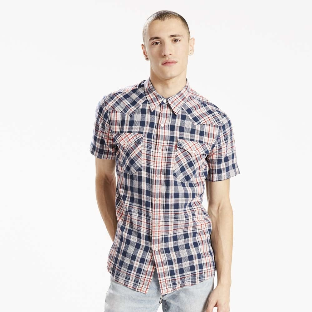 Buy levis short sleeve barstow western shirt collen clare for Levi s short sleeve shirt
