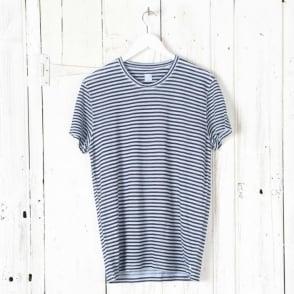 Short Sleeve Linen Stripe T Shirt