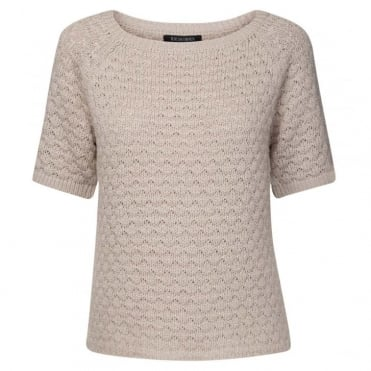 Short Sleeved Knit Blouse