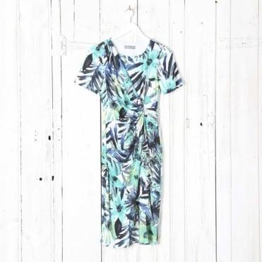 Side Ruche Stretch Jersey Dress