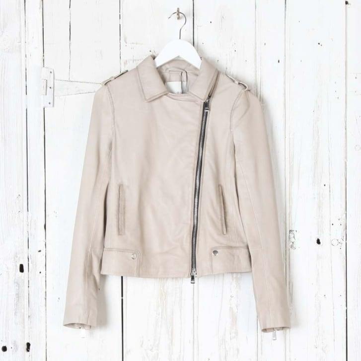 OUI Side Zip Leather Jacket