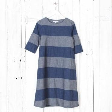 Berta Denim Stripe Dress