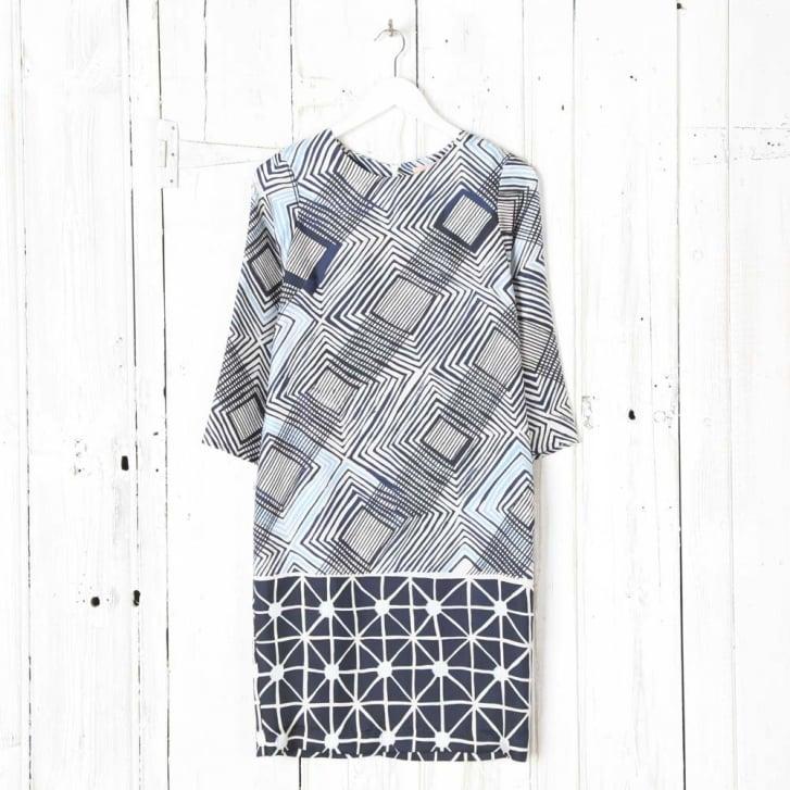 VILAGALLO Silk Print Dress