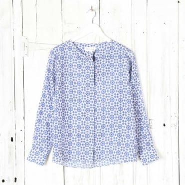 Silk Star Print Blouse
