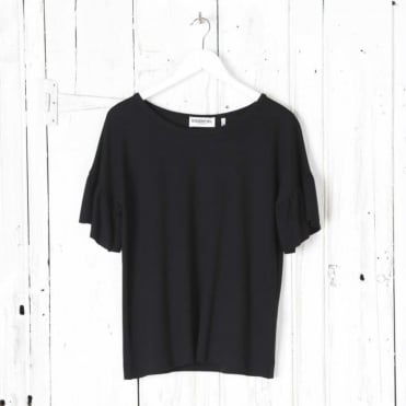 Simple Tee with Ruffle Sleeve