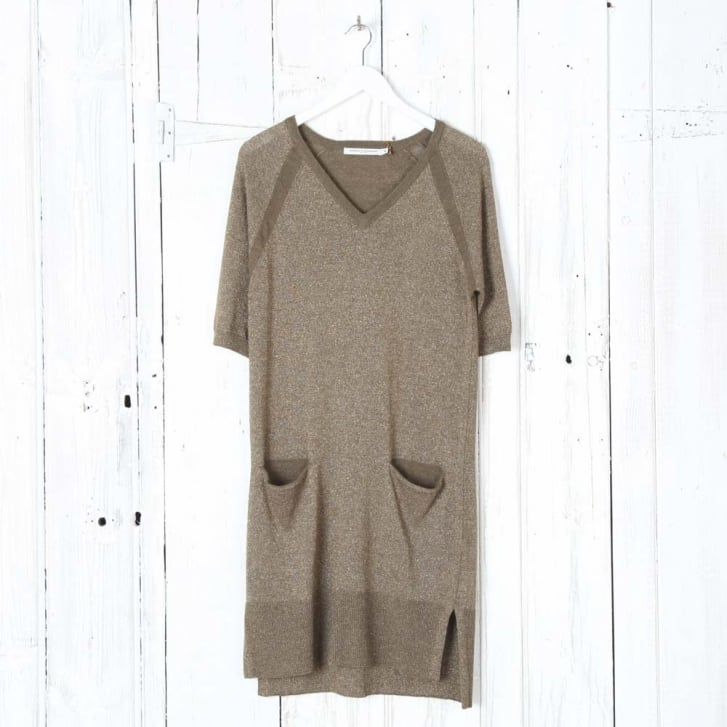 Siska V Neck Jumper Dress