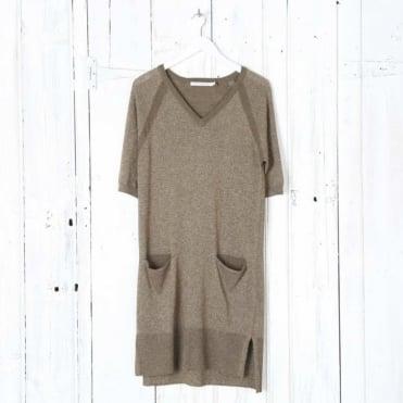 Siska V Neck Jumper Dress