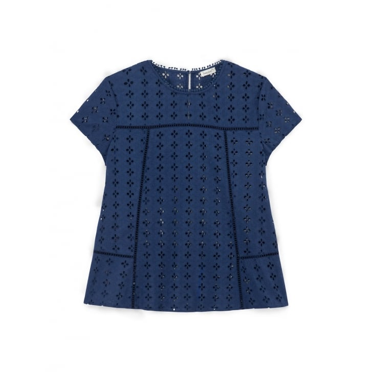 SOMEWHERE PARIS Hinode Eyelet Embroidery Short Sleeves Shirt