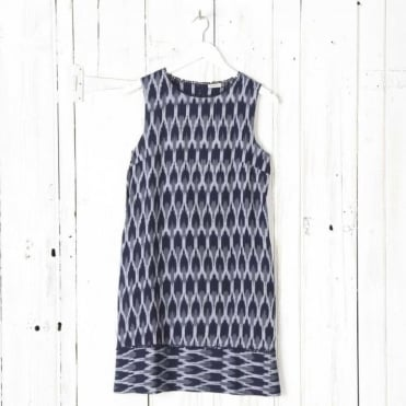 Hiwa Ikat Dress Without Sleeves