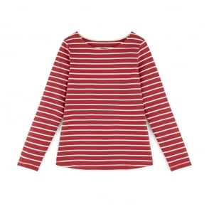 Igo Organic Cotton Striped T-Shirt in Cramberry