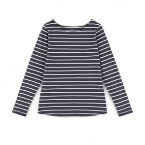 Igo Organic Cotton Striped T-Shirt in Indigo