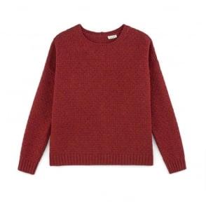 Leki Cotton Wool Squared Sweater in Cramberry